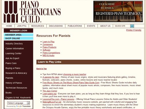 Piano Technicians Guild